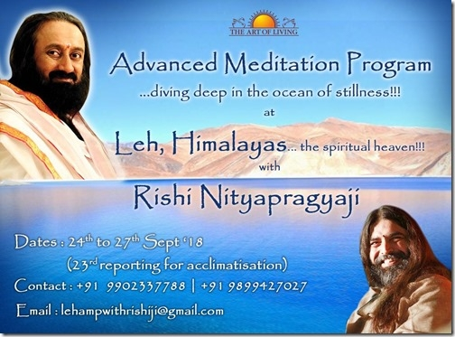 Art of Living Advanced Meditation Program at Leh, Ladakh, with Rishi Nityapragya
