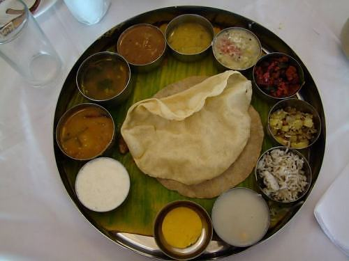 South Indian wedding lunch thali