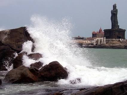 Vivekananda Rock at Kanyakumari