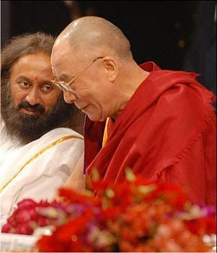 Sri Sri Ravi Shankar and Dalai Lama
