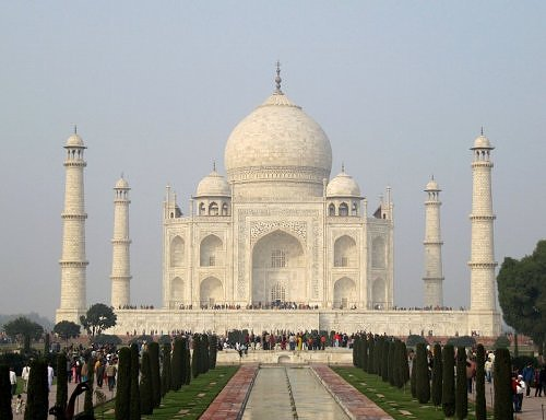 Classic View of Taj Mahal, Agra, Uttar Pradesh, India