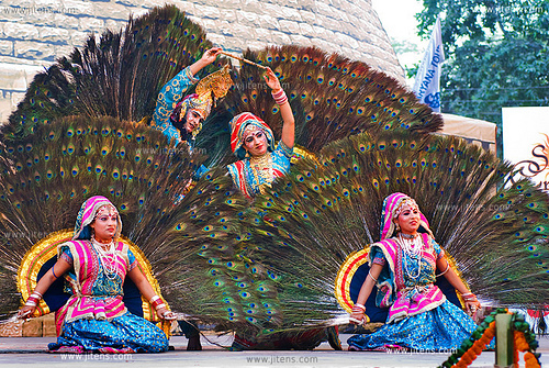 Raasleela, Mayur (Peacock) Dance, Mathura, India [Surajkund Crafts Mela 2009 ]